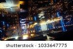 3d render  abstract futuristic... | Shutterstock . vector #1033647775