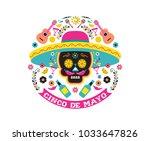 cinco de mayo  mexican fiesta ... | Shutterstock .eps vector #1033647826