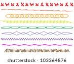 set of horizontal thread... | Shutterstock .eps vector #103364876