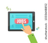 concept of job searching on... | Shutterstock .eps vector #1033648852