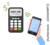 wireless method payment  nfc... | Shutterstock .eps vector #1033648972