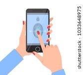 fingerprint identification on... | Shutterstock .eps vector #1033648975
