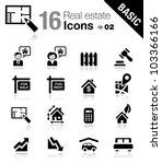 basic   real estate icons | Shutterstock .eps vector #103366166