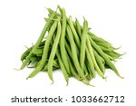 fresh green beans isolated on a ... | Shutterstock . vector #1033662712