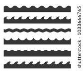 seamless wave pattern set....   Shutterstock . vector #1033666765