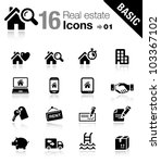 basic   real estate icons | Shutterstock .eps vector #103367102