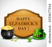 st.patricks day  treasure of... | Shutterstock .eps vector #1033677316