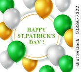 st.patrick's day background... | Shutterstock .eps vector #1033677322