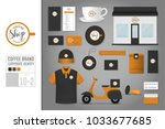 corporate identity template set ... | Shutterstock .eps vector #1033677685