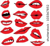 set of different lips ... | Shutterstock . vector #103367852