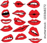 set of different lips vector... | Shutterstock .eps vector #103368272