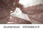 empty smooth abstract room... | Shutterstock . vector #1033686115