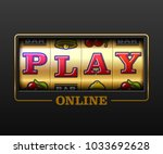 play online  slot machine games ... | Shutterstock .eps vector #1033692628