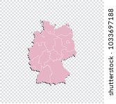 germany map   high detailed... | Shutterstock .eps vector #1033697188