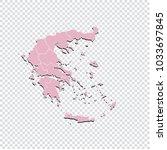 greece map   high detailed... | Shutterstock .eps vector #1033697845