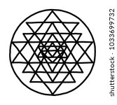 sacred geometry and alchemy... | Shutterstock .eps vector #1033699732