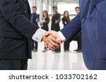 businesspeople executive... | Shutterstock . vector #1033702162