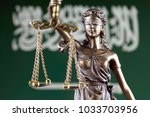 symbol of law and justice with... | Shutterstock . vector #1033703956