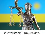 symbol of law and justice with... | Shutterstock . vector #1033703962