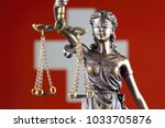 symbol of law and justice with... | Shutterstock . vector #1033705876