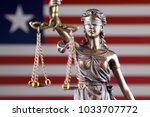 symbol of law and justice with... | Shutterstock . vector #1033707772