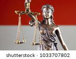 symbol of law and justice with... | Shutterstock . vector #1033707802