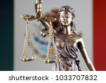 symbol of law and justice with... | Shutterstock . vector #1033707832