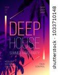 summer event poster flyer...   Shutterstock .eps vector #1033710148