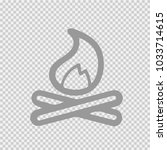 bonfire vector icon eps 10.... | Shutterstock .eps vector #1033714615