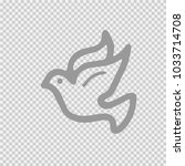 dove vector icon eps 10. bird... | Shutterstock .eps vector #1033714708