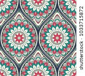 seamless pattern with ethnic... | Shutterstock . vector #1033715872