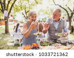 family celebration or a garden... | Shutterstock . vector #1033721362