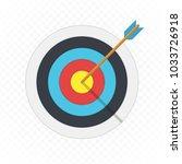 target arrow flat icon. arrow... | Shutterstock .eps vector #1033726918