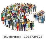 groups of people statistics ... | Shutterstock . vector #1033729828