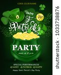 happy saint patrick's day... | Shutterstock .eps vector #1033738876