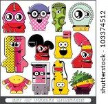 set of twelve monsters | Shutterstock .eps vector #103374512