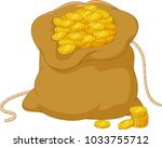 cartoon bag of coins isolated... | Shutterstock .eps vector #1033755712