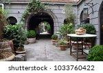 restaurant geist patio  popular ... | Shutterstock . vector #1033760422