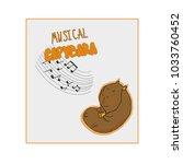 cute cartoon capybara vector... | Shutterstock .eps vector #1033760452