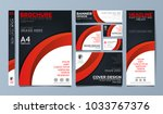 red corporate identity set... | Shutterstock .eps vector #1033767376