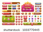 game ui wooden set. complete... | Shutterstock .eps vector #1033770445