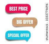 sale labels set  | Shutterstock . vector #1033774696