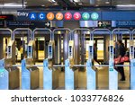 Subway Station Entrance In...