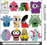 set of twelve monsters | Shutterstock .eps vector #103377782