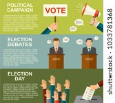 elections and voting concept... | Shutterstock .eps vector #1033781368