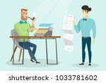 young caucasian white... | Shutterstock .eps vector #1033781602