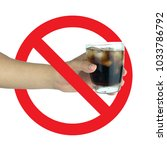 Small photo of The concept of health care to reduce the amount of sugar in the body, refrain from drinking soft drinks.