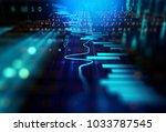 financial graph on technology... | Shutterstock . vector #1033787545