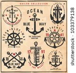 sailor collection | Shutterstock .eps vector #103379138
