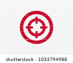 business concept  painted red... | Shutterstock . vector #1033794988